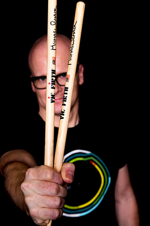 Michael Schack with VIC-FIRTH sticks